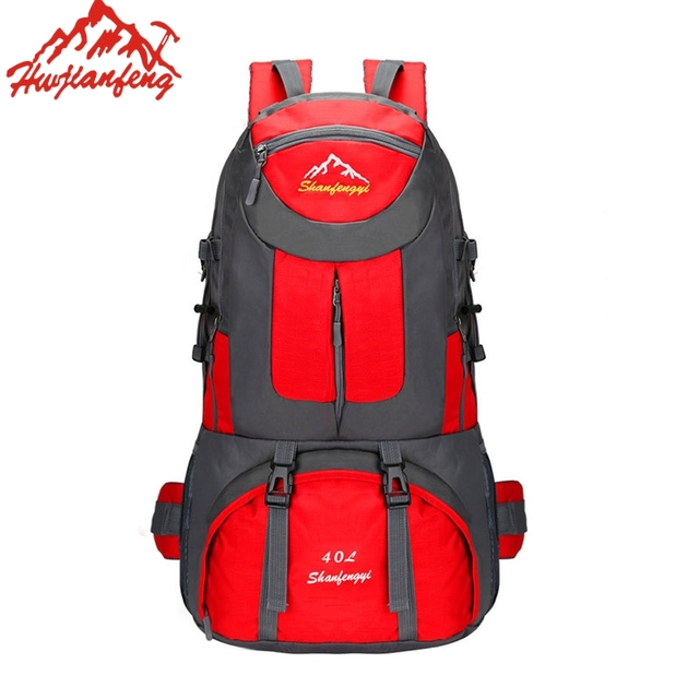 High Quality Large Capacity Climbing Cycling Backpack Military Camping Waterproof Nylon Outdoor Hiking Travel Rucksack 40L 60L