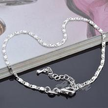 Fashion Jewelry Plated Silver Anklets High Quality Free Shipping Ankle Bracelet Factory Price Fine Jewelry Anklet MDA008
