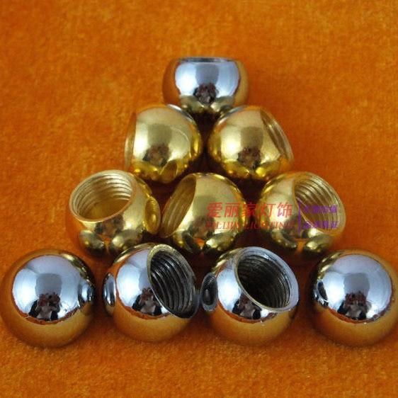 10pcs dia 15mm m10 inner tooth chrome plating gold bald bald cap round cap nut decorative nut - Decorative chrome plating ...