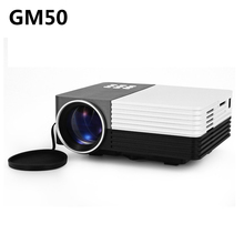 Mini GM50 80LM 480×320 Pixels Proyector de Cine En Casa de Vídeo juegos TV Movie LED Proyector Soporte HDMI VGA AV MHL 3D Beamer