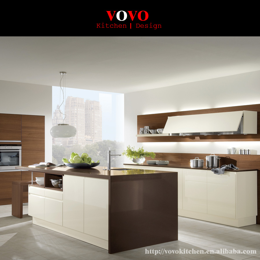 High Quality Modern Design And White Paint Modern Kitchen