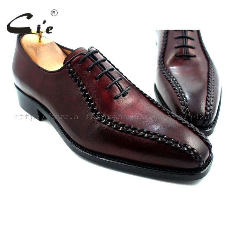 af2da798378 Cheap Zapato para hombre de cuero hecho a mano con punta cuadrada cie  goodyear, zapato