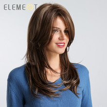 Element 20 inch Long Synthetic Wig Right Side Parting High D