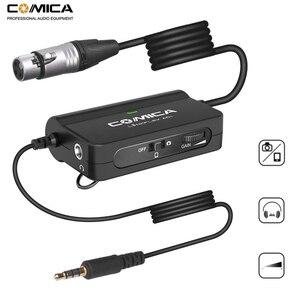 Image 1 - Comica AD1 Preamplificatore Microfonico XLR a 3.5mm Audio Adapter XLR a TRS/TRRS Adattatore per DSLR Fotocamere Videocamere E Smartphone