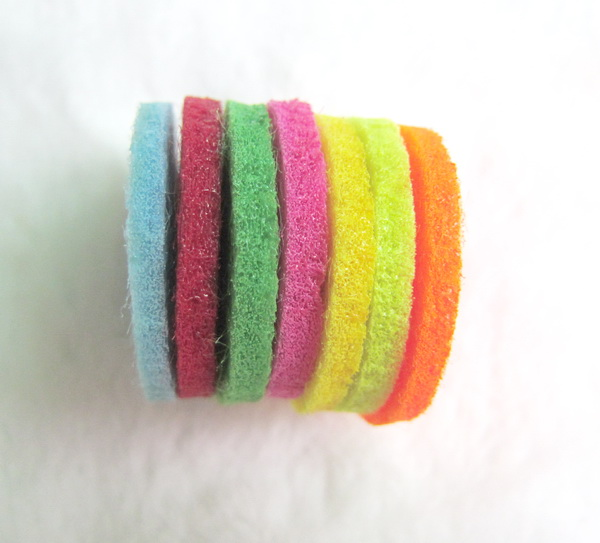30mm round felt pad spacers for taking essential oil on the diffuser necklace jewelry