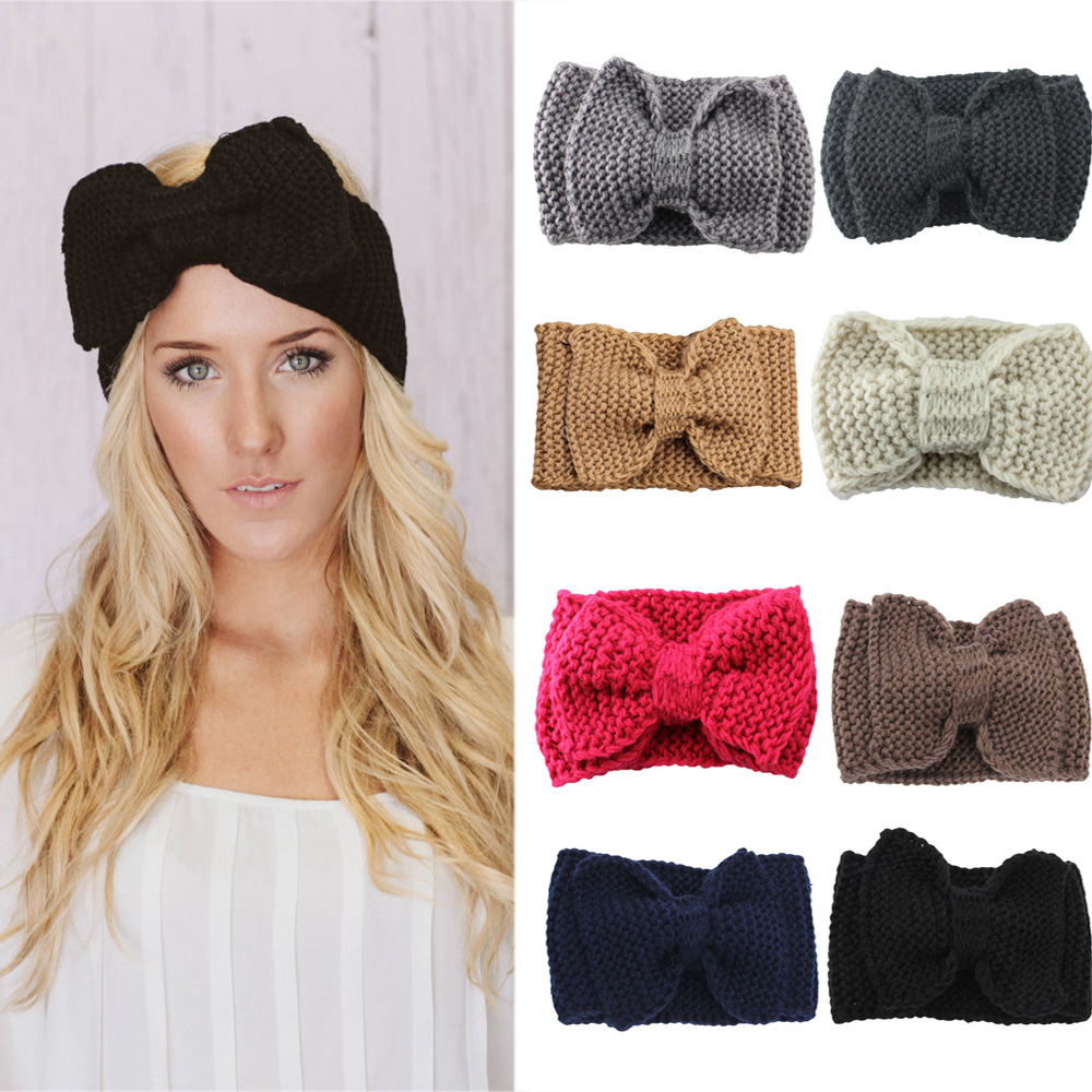Cute Kids Baby Girls Toddler Knit Turban Hair Band Coiffure Bandeau Accessoires