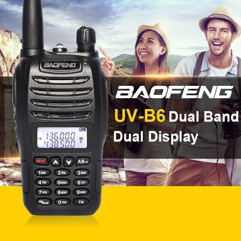Baofeng UV-B6 5 W longue portée talkie-walkie double bande VHF/UHF deux voies Radio émetteur-récepteur Pofung UV B6 Portable Interphone FM Radio - 2