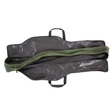 90/110cm Portable Fishing Rod Lures Storage Bag Multifunctional Double Layer Outdoor Fishing Bag Fishing Tackle Bag