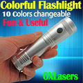 OXLasers 3W 10 colors RGB full color flashlight 10 in 1 LED torch flashlight Warning light CSI light FREE SHIPPING