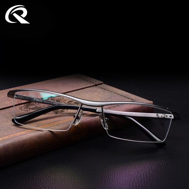 2015 New Aluminium Magnesium Top Quality Mens Glasses Alloy Frame TR 90 Arms Half Rim Eye Glasses Frames for Men