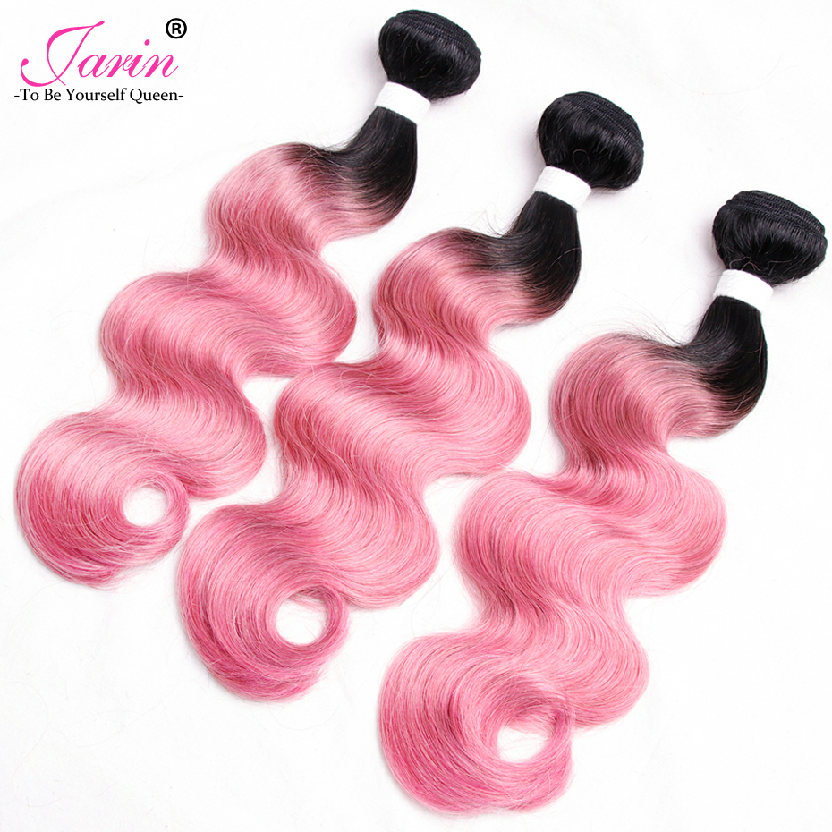 Ombre Pink Body Wave Cheap Malaysian Human Hair 2 pieces/lot Free Shipping Remy Two Tone 1B/Pink Color Hair Weave Extensions