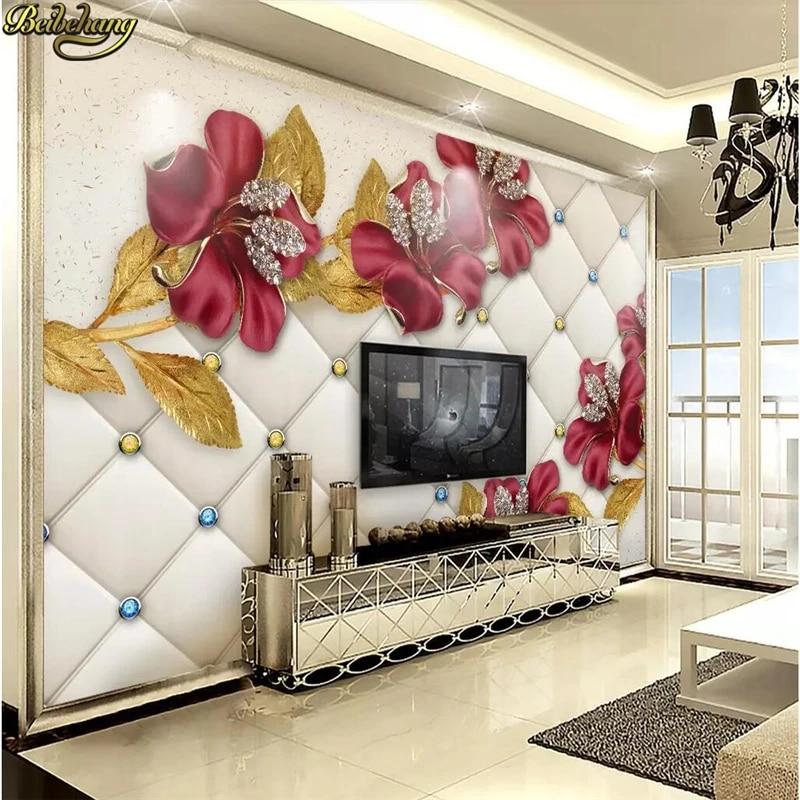 Beibehang Custom Photo Wallpaper 3d Background Modern Simple Jewelry Flowers Murals Living Room Bedroom Wall Design Mural Paper Wallpapers Aliexpress
