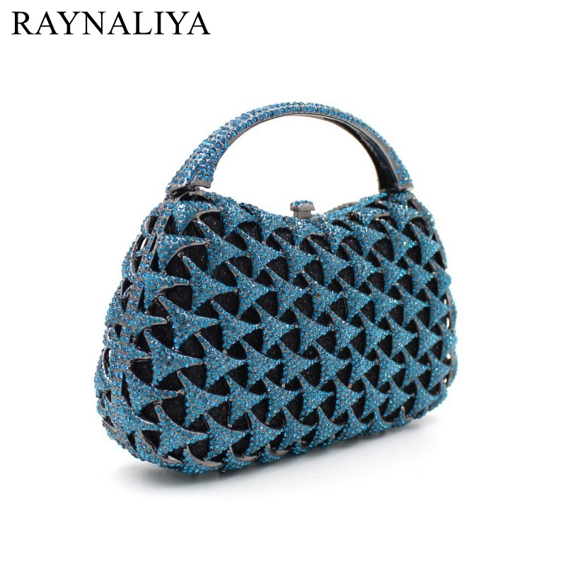 Luxury Crystal Evning Bags Studded Diamond Party Sac Pochette Women Wedding Purse Ladies Fashion Minaudiere Clutch Smyzh-f0038 women luxury rhinestone clutch beading evening bags ladies crystal wedding purses party bag diamonds minaudiere smyzh e0193