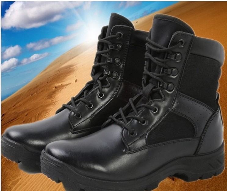 hot sale online d22ca 9b377 US $30.57 18% OFF|2018 combat boots type men's ultra light military shoes  men's tactical boots high side training special forces security boots-in ...