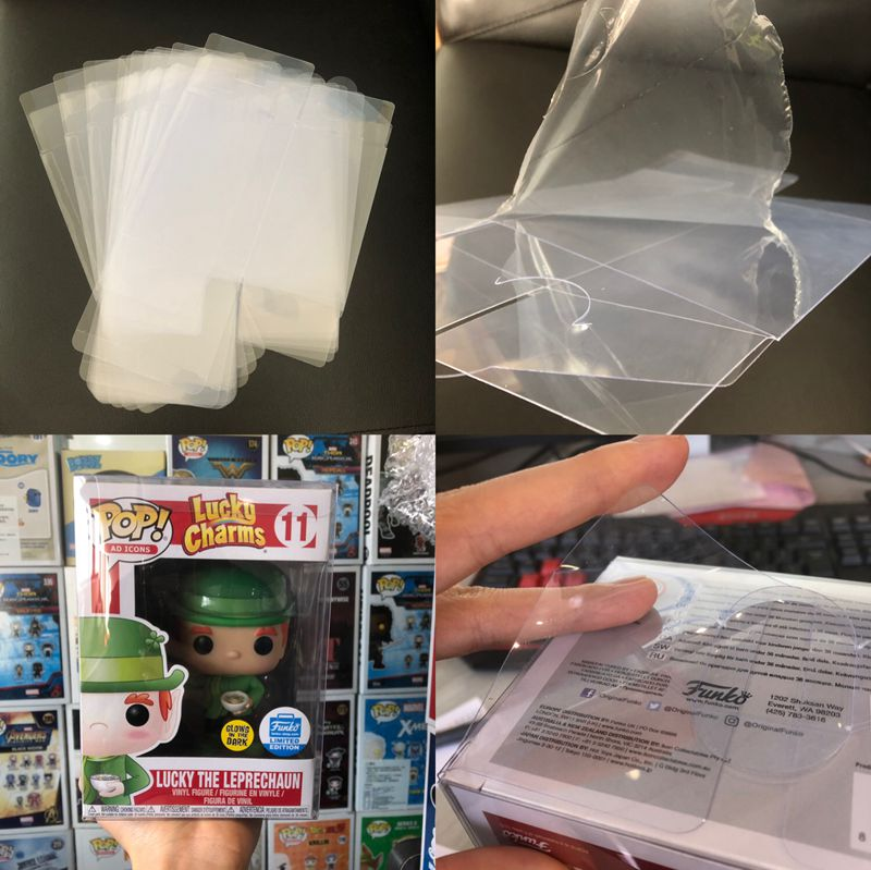 "Brand New Protection Case For Funko Pop, 4"" Non-toxic PVC POP PROTECTOR CRYSTAL CLEAR BOX With Protective Film No Figure(China)"
