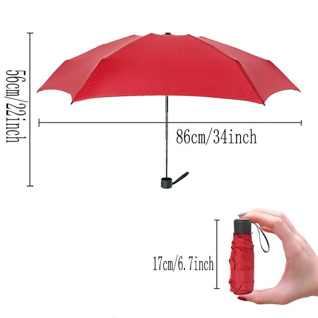 Mini Pocket Umbrella Women UV Small Umbrellas 180g Rain Women Waterproof Men Sun Parasol Convenient Girls Travel Parapluie Kid
