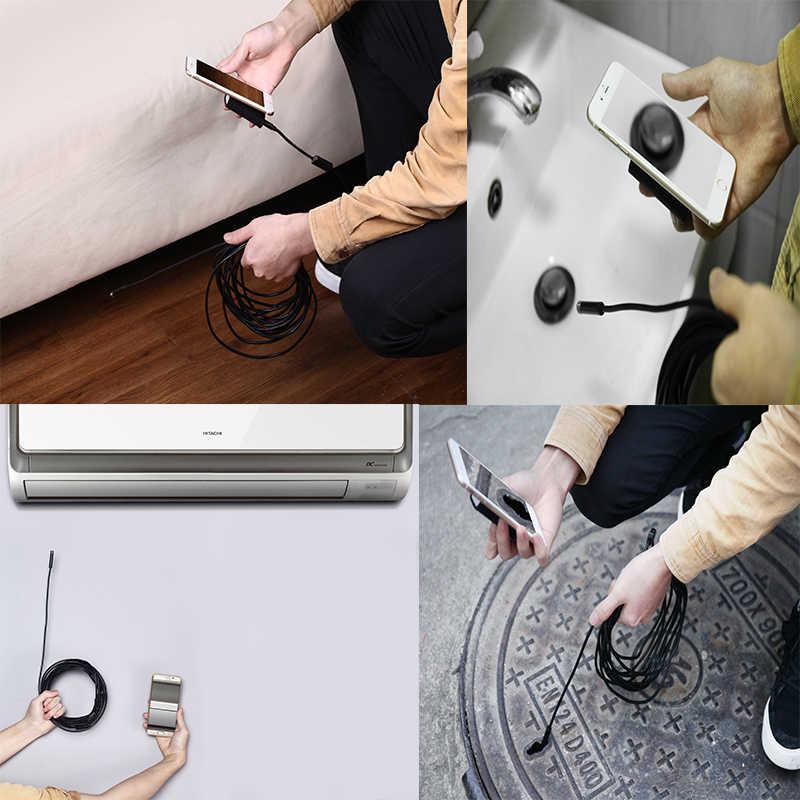 8 مللي متر 1200P 2 متر 5 متر 10 متر 8 Led Wifi منظار مزوّد بمنافذ USB التفتيش Borescope ثعبان فيديو مرنة كاميرا ل IOS أندرويد سيارة كشف