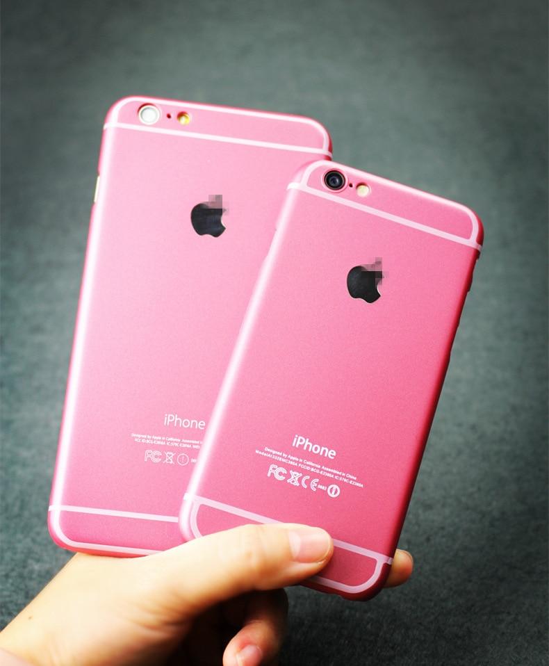 online retailer 83609 4c23b US $2.54 |Original For Apple iPhone 6plus Case Luxury Pink Color Plastic  Hard Cover For iPhone 6 plus 5.5 Fundas Phone Cases KH296 6P on ...