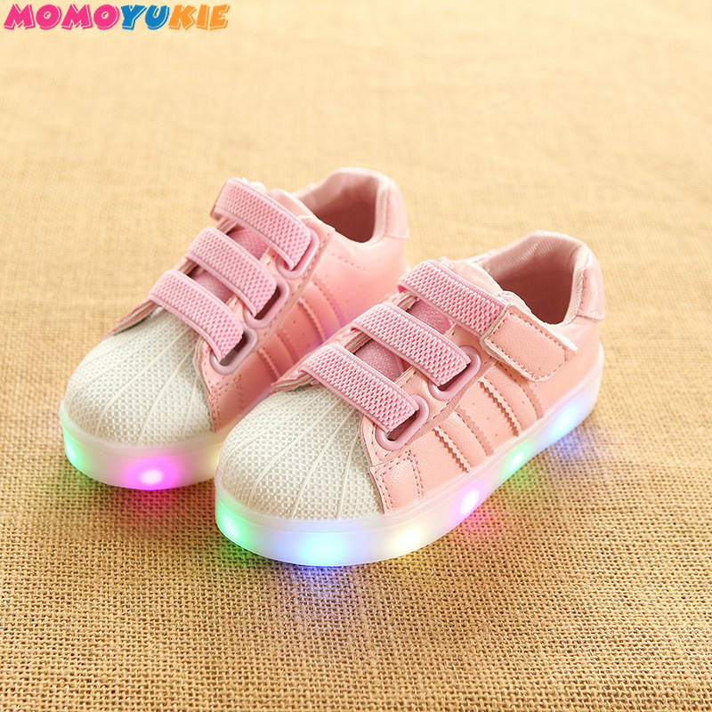 Glowing Luminous Sneakers Feminino Baskets with Light Sole Children Led Slippers for Boy&Girl Light Up Shoes girls  boys|Sneakers|   - title=