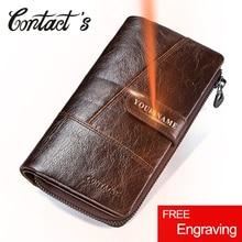 連絡のブランドデザイナー100% 本物の牛革クラッチ財布財布カードホルダーヴィンテージ財布メンズコイン財布ポケット