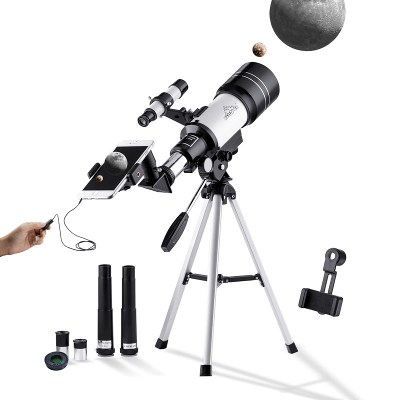 Refractor Telescope Astronomical 300/70mm 150x for Beginners Adults Kids Professional Astronomy Telescope with Tripod MAXLAPTER sharpstar 400f5 6 72ed refractor astronomical telescope
