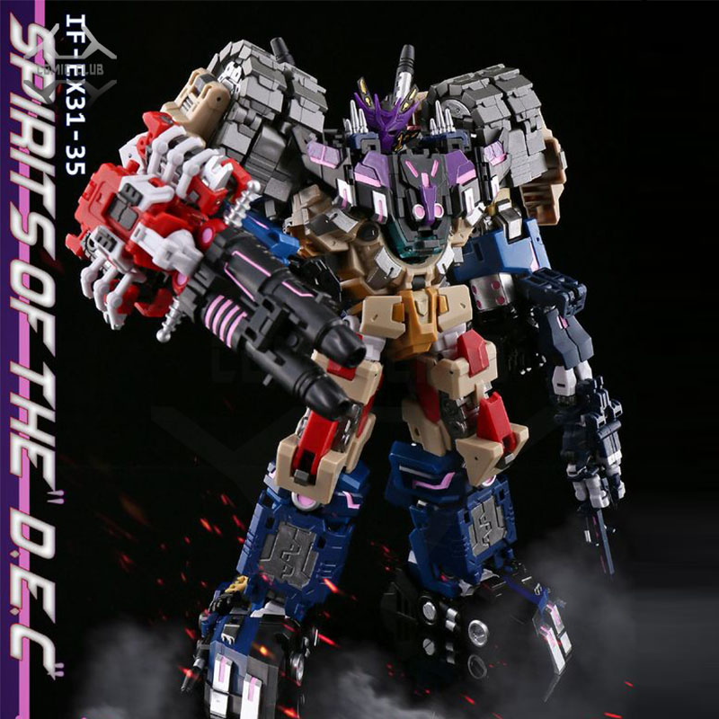 COMIC CLUB In-stock Ironfactory DJD Tarn Vos Kaon Helex Tesarus Combiners Transformation Action Figure Robot Toy