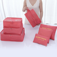 7 sets Travel storage bag clothes shoes underwear dispensing luggage organizer large polyester pouch home organization