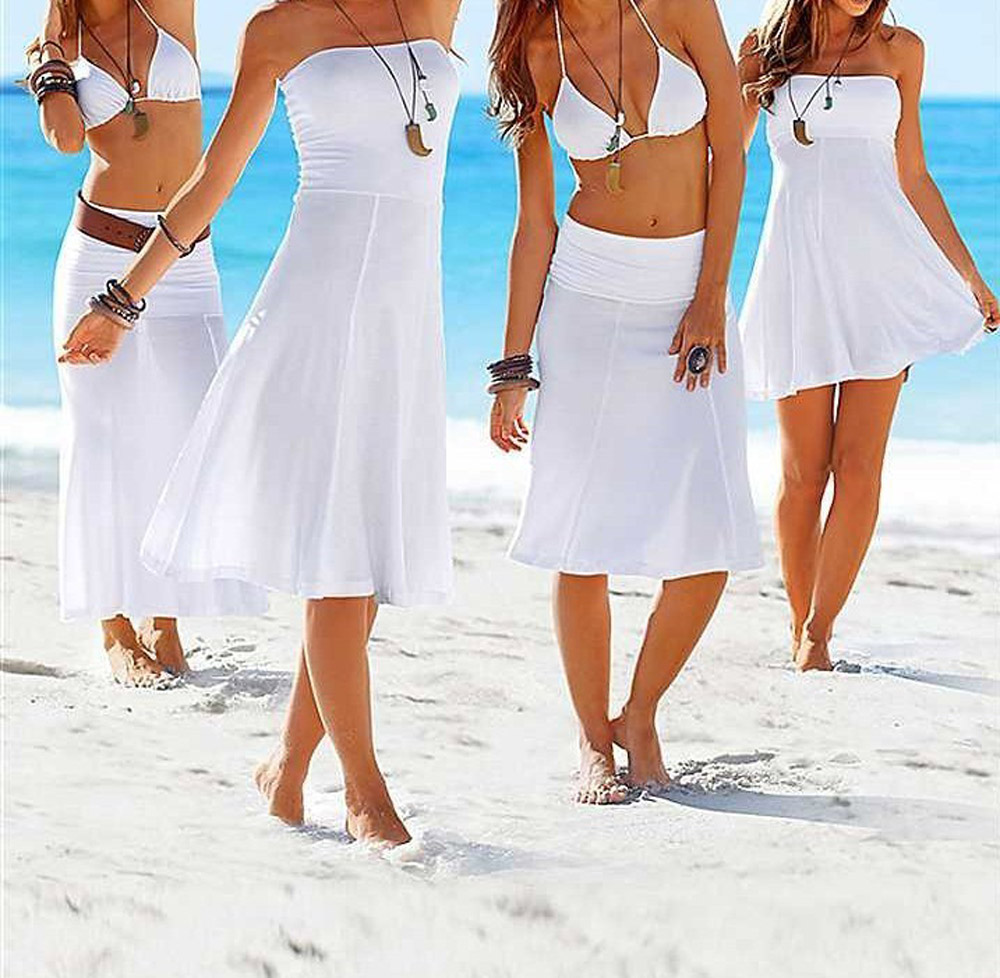 free shipping multi way wrap dress beach 2014 fashion bikini outside beach one-piece dress