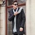 Pioneer camp grossa jaqueta de inverno para baixo dos homens quentes nova marca de moda roupas Top Quality Longo Macho 90% de pato Branco para baixo casaco 611607