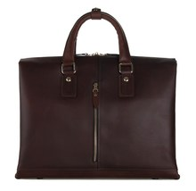 7214Q JMD Genuine Pull Up Leather Vintage Business Style Men's Handbags For Man Briefcases Laptop Bag
