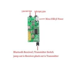 2in1 Draadloze Bluetooth 4.2 Audio Ontvanger Zender Receptor 3.5 MM AUX Tf kaart Decoder Voor headset Speaker DIY