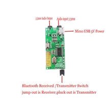 2in1 Drahtlose Bluetooth 4,2 Audio Receiver Transmitter Rezeptor 3,5 MM AUX TF Decoder Für headset Lautsprecher DIY