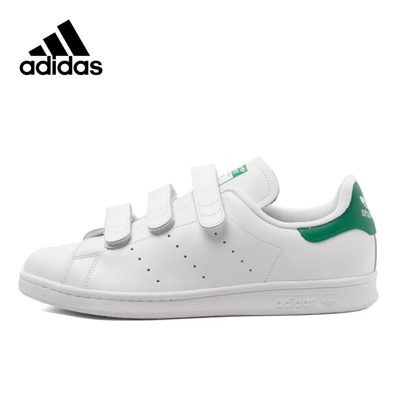 Chic Adidas Sneakers Originals Sports White Unisex Skateboarding Shoes Hook&Loop Low-tops Genuine Adidas Women Sneakers S75187 genuine adidas sneakers new originals sports white women s skateboarding shoes summer low tops adidas women sneakers