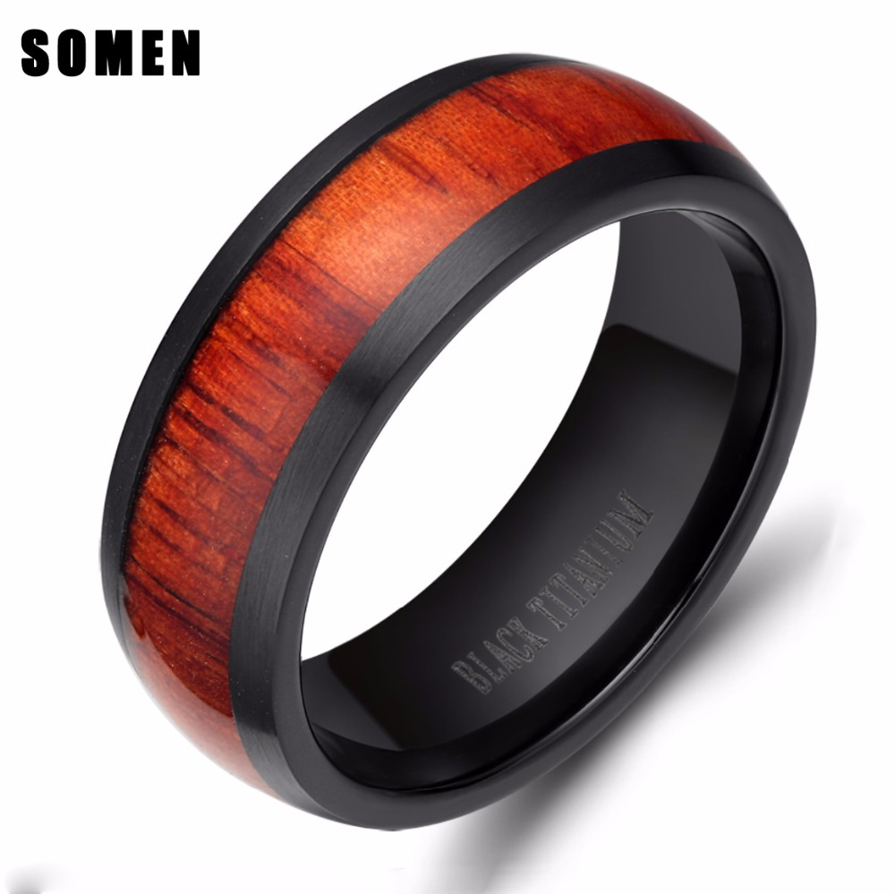 His And Her Rings Sandalwood Ring Red Ring Set Wood Wedding Rings