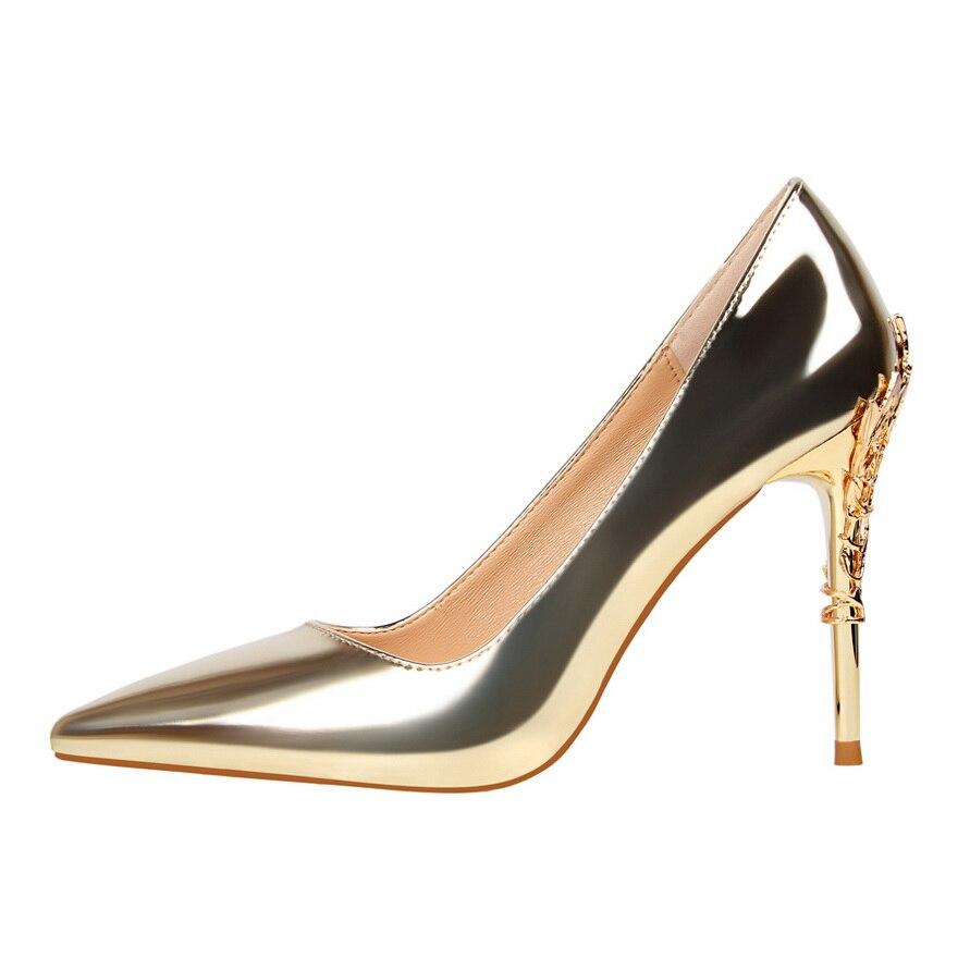 Designer Metall Heels Bigtree Schuhe Frau Kleid Hochzeitsschuhe