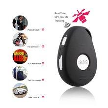 LESHP Black GPS Mini GPS Tracker Locator SOS Alarm for Kids Elder Pet Cat Dog Car Vehicle Personal Security EU Plug