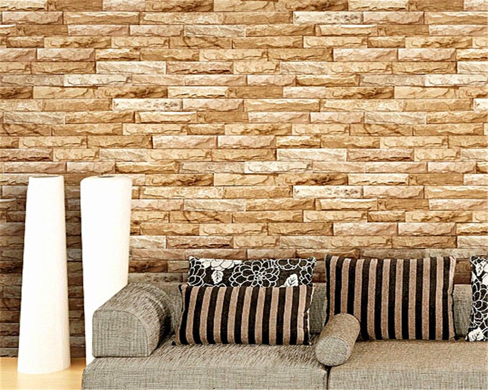 Beibehang Wallpaper Volume 3d Stereo Brick Brick Wallpaper Living ...