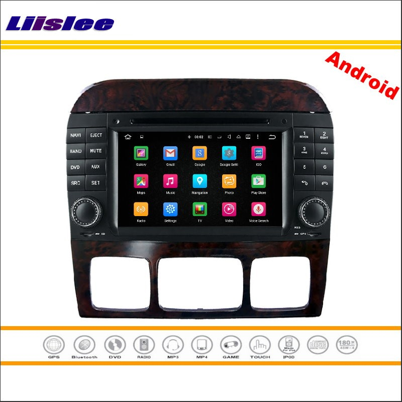 Liislee Car Android Multimedia For Mercedes Benz S W220 1998~2005 Stereo Radio CD DVD Player GPS Map Nav Navi Navigation System
