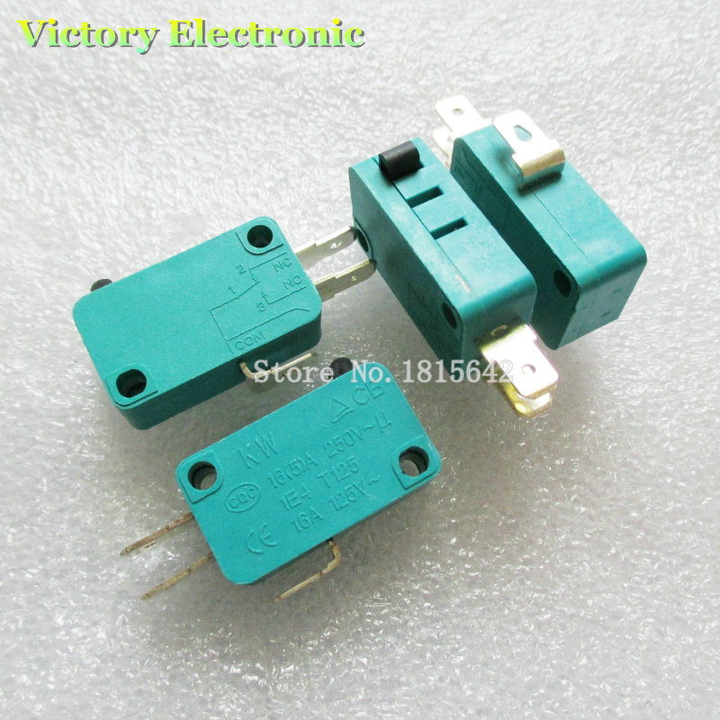 5PCS/Lot Brand New Switch KW7-0 15A 16A 125V 16(4)A 250V-1E4 T125 Contact Switch Wholesale Electronic
