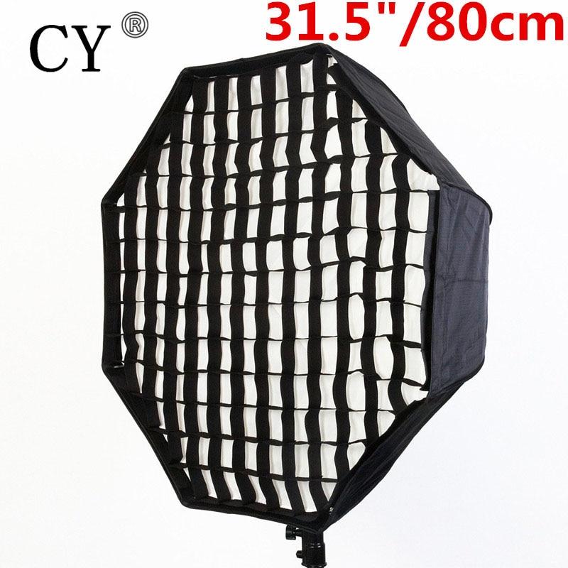 Photography Soft Box Light Box Photo Studio 80cm/31.5 Octagon Umbrella Softbox Reflector with Gird for Speedlite Flash PSCS17G