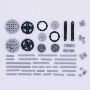 Image 5 - Blocks Technic Parts Bulk Gear Axle Conector Wheels Pulley Chain Link Car Toys Mindstorms compatible Accessories Building Bricks