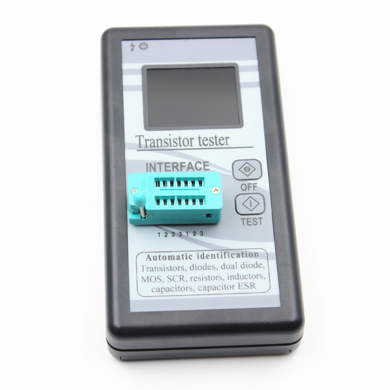 Multi-purpose Transistor Tester 128*160 Diode Thyristor Capacitance Resistor Inductance MOSFET ESR LCR Meter TFT Color Display lcr t4 graphical tester resistor capacitor esr diode thyristor inductor mos