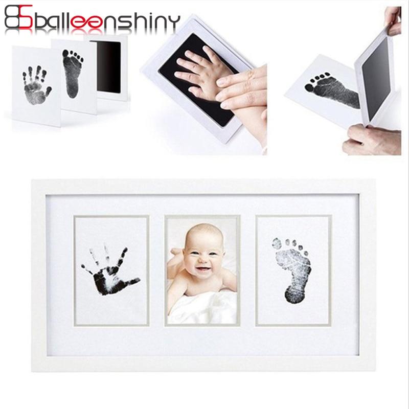 BalleenShiny Baby Handprint Footprint Non-Toxic Newborn Imprint Hand Inkpad Watermark Infant Souvenirs Casting Clay Toys Gift