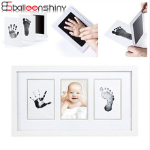 BalleenShiny Baby Handprint Footprint Non-Toxic Newborn Imprint Hand Inkpad Watermark Infant Souvenirs Casting Clay Toys Gift(China)