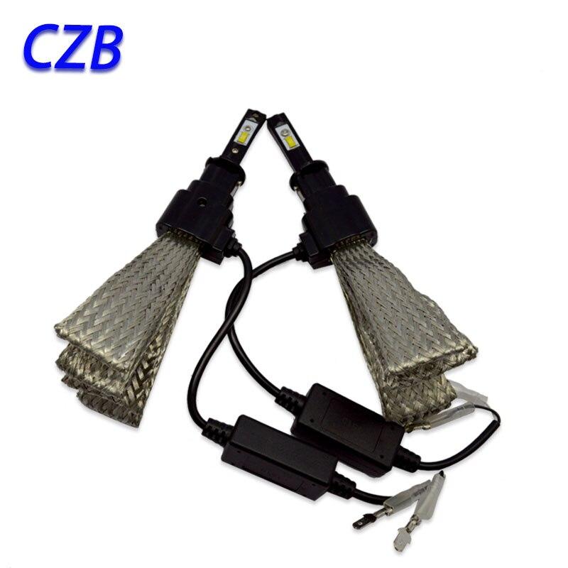 2Pcs 20W H8/H9/H11/H16 Hi/Lo 3200LM led For Philips Car LED Headlight Kit Bulb Xenon HID White Lamp 6500K Fast shipping