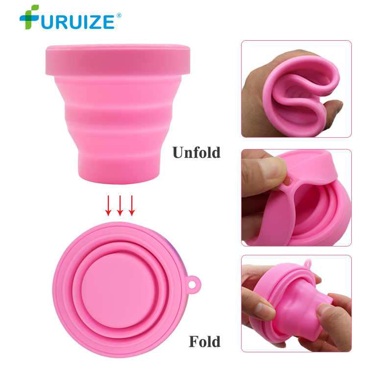 Furuize Menstrual Sterilizing Cup Foldable Collapsible Silicone copa menstrual Recyclable Sterilizer On Sale