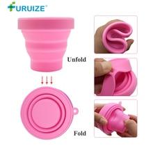Furuize Menstrual Sterilizing Cup Foldable Collapsible Silicone Sterilizing Cup copa menstrual Recyclable Sterilizer Cup On Sale недорого