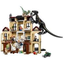 Jurassic World 2 Dinosaur Indoraptor Rampage At Lockwood Estate Building Block Bricks Compatible Lego Dinosaurs 75930