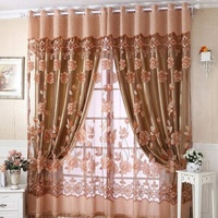 New Window Door Curtain Luxurious Jacquard Curtains Burnout Tulle For Window Voile Cortinas Home Textiles Sheer