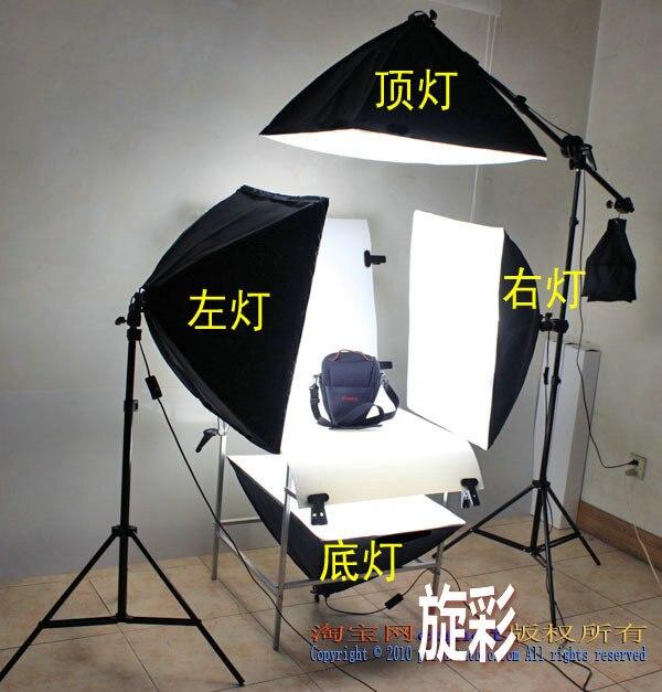 Estudio fotográfico Kit de iluminación Continua 60x130 cm Tabla Disparo fotográf